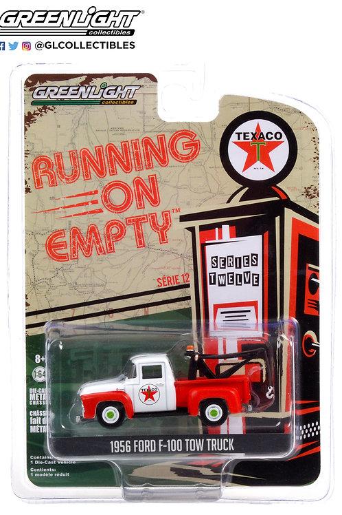 Greenlight Running on Empty 12 1956 Ford F100 Tow Truck Texaco