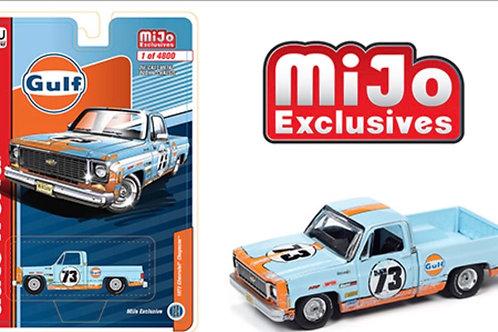 Auto World MiJo 1973 Chevy Cheyenne Pick Up Gulf Weathered