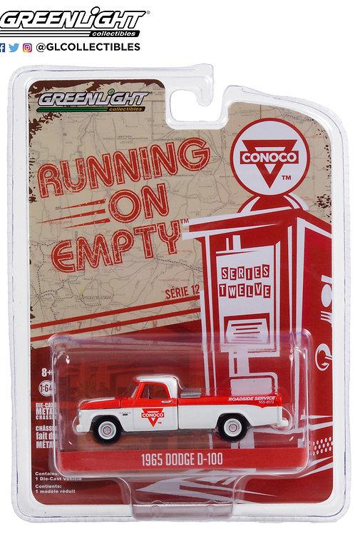Greenlight Running on Empty 12 1965 Dodge D100 Pick Up Truck