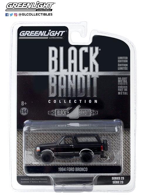 Greenlight Black Bandit 23 1994 Ford Bronco 4x4