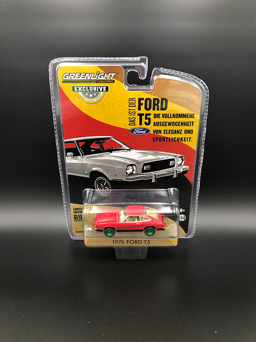 Greenlight Hobby Exclusive 1976 Ford T5 Mustang Green Machine