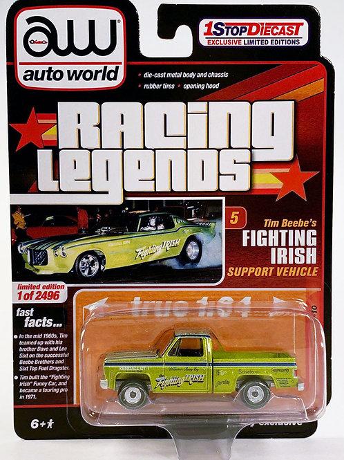 Auto World 1 Stop Diecast Exclusive 1973 Chevy C10 Pick Up Truck Fighting Irish