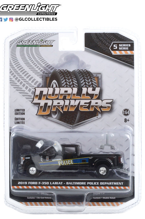 Greenlight Dually Drivers 5 2019 Ford F-350 Lariat Police Truck