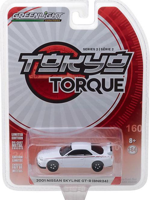 Greenlight Tokyo Torque 2 2001 Nissan Skyline GT-R