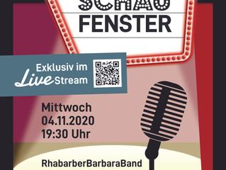 Live-Stream aus dem Schaufenster: RhabarberBarbaraBand