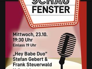 Archiv: Live-Musik im Schaufenster: Hey Babe Duo - Stefan Gebert & Frank Steuerwald