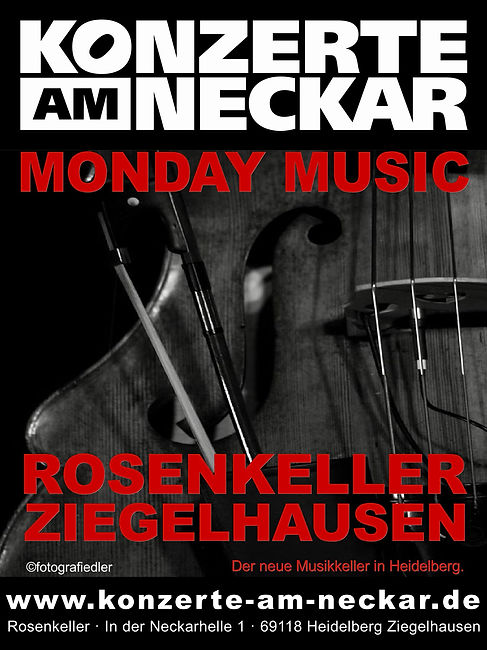 Flyer Monday Music Januar bis April 2019