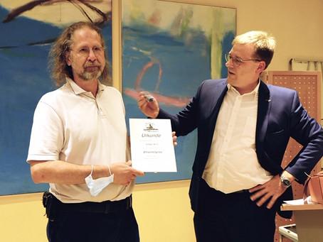 Volker Wilz ist neues Ehrenmitglied im Regattaverband