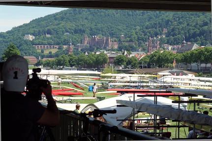 Boote vor Heidelberg-Panorama