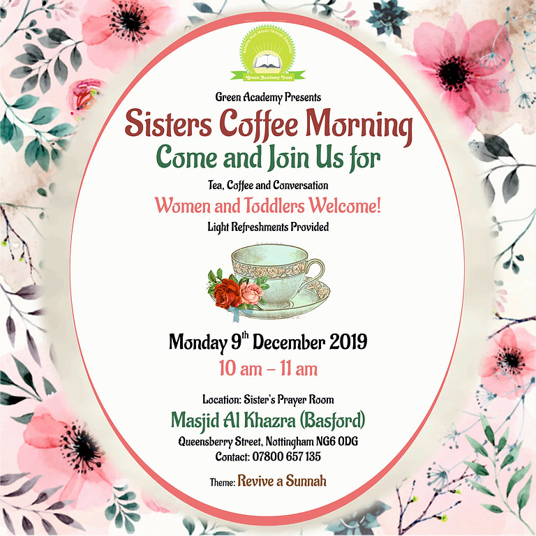 Sisters Coffee Morning
