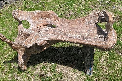 Natural Form Teak Wood Bench