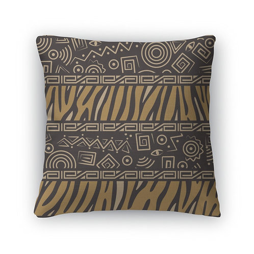 Throw Pillow, African Style Pattern