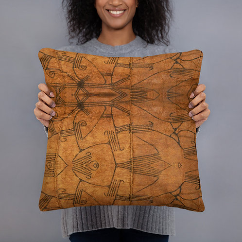 African Pygmy Bark cloth Style Pillow