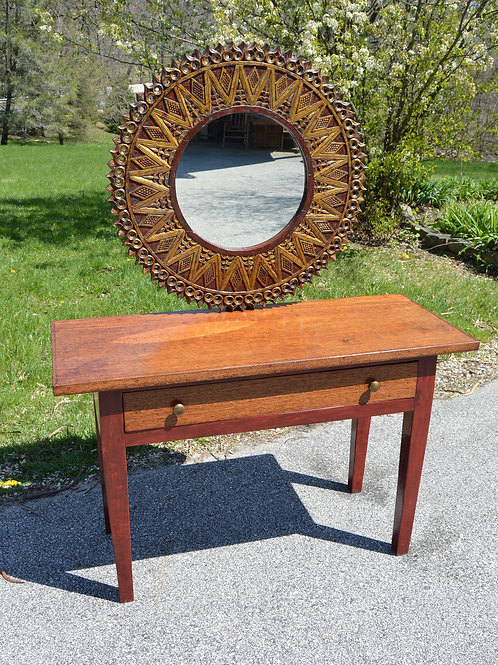 Dressing Table with Ornate Mirror