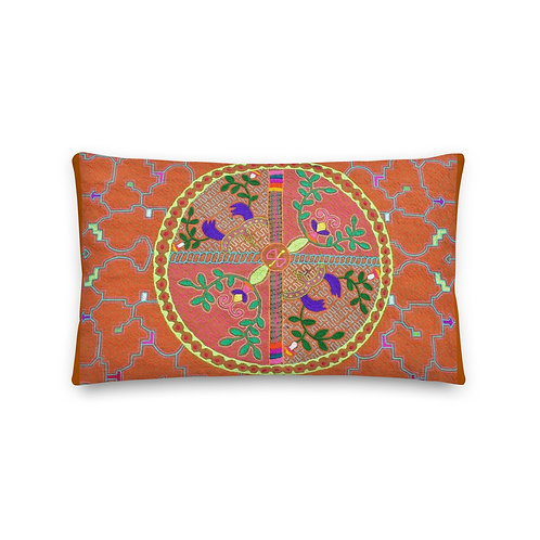 Ayahuasca Visions Shipibo Indian textile Throw Pillow
