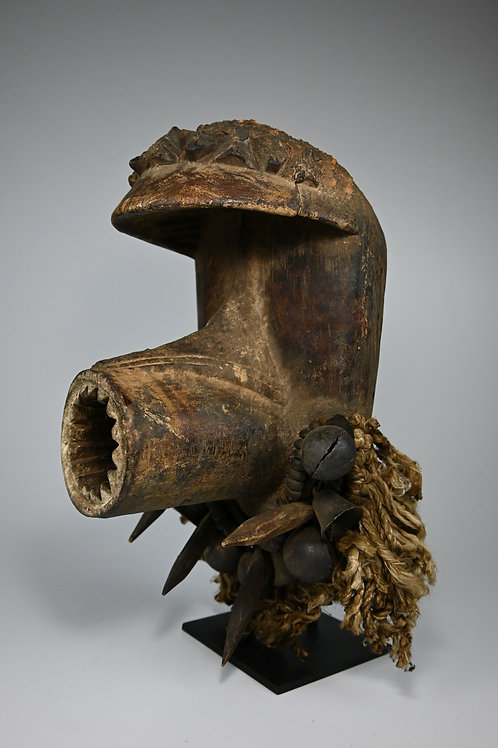 A Guere mask with Open Mouth & Regalia