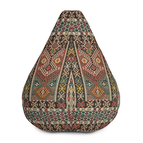 Tribal Kilim Style Bean Bag Chair w/ filling