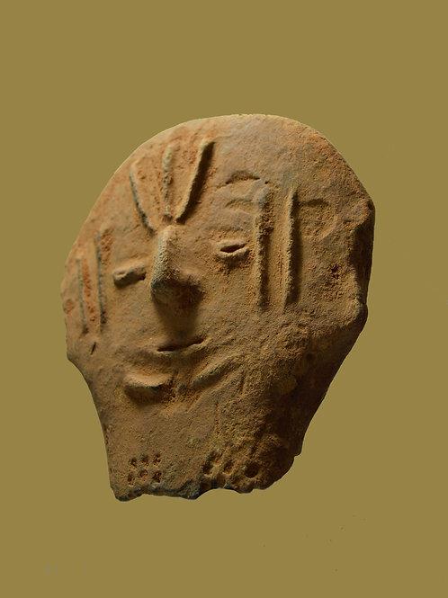 # 4 Ancient Bura Terracotta Head Relic 300 AD