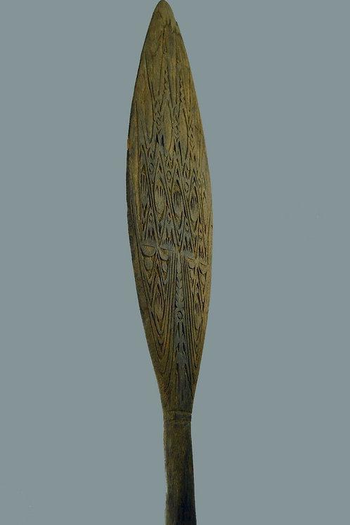 A Lake Senati Carved Canoe Paddle