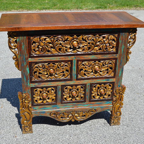 A Finely Carved Wooden Dresser / Cabinet