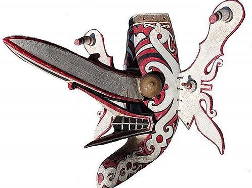 A Dayak Hudoq Dance mask