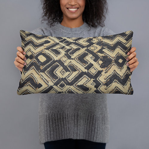 African Kuba Cloth Tribal Style Printed Pillow