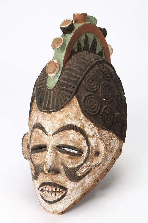 """Igbo """"Agbogho mmwo"""" Helmet Mask"""