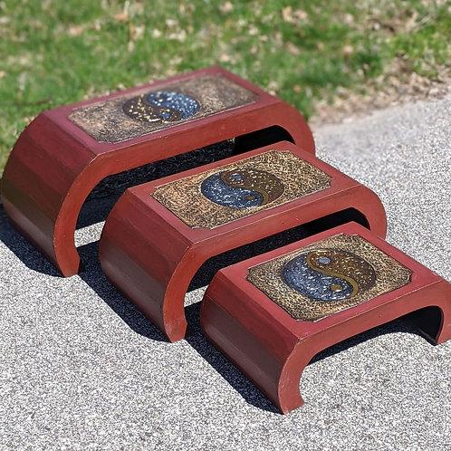 3 Piece Meditation Table Set Yin & Yang Design