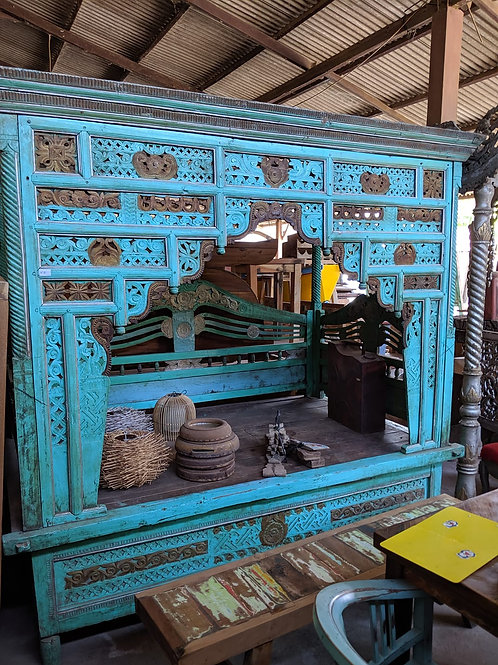 Antique Canopy Bed from Madura Island, Indonesia