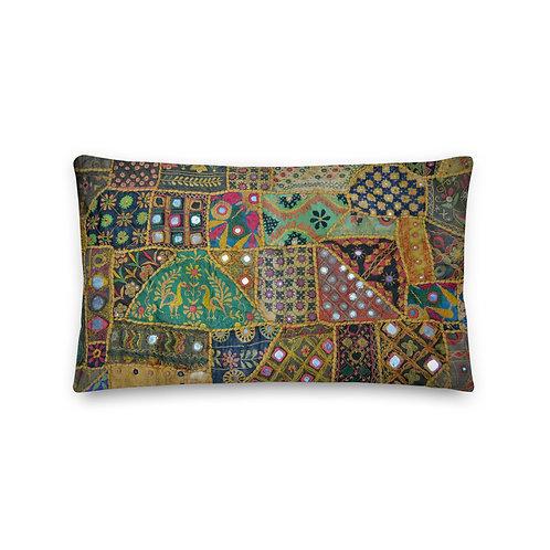 Textiles Of India Throw Pillow