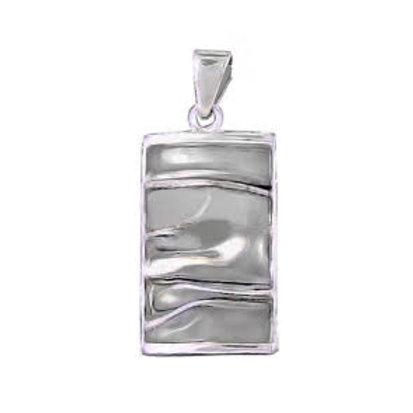 Crinkle Rectangle Pendant