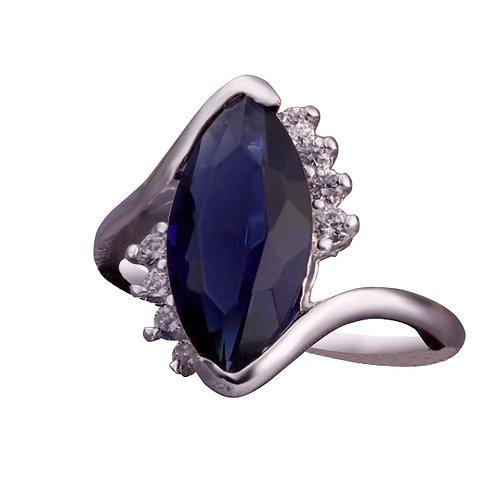 Ocean Blue Austrian Crystal Ring