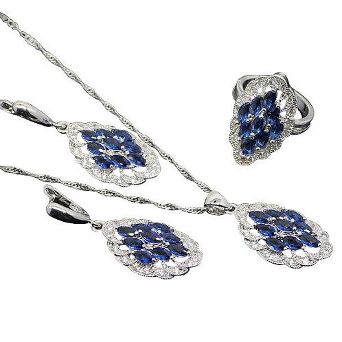 Blue Tanzanite Jewellery Set