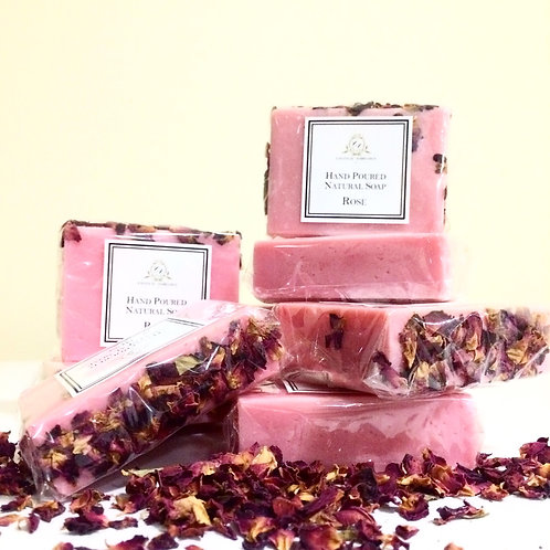 Hand Poured Natural Soap- Rose