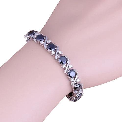 Black Sapphire Topaz Bracelet