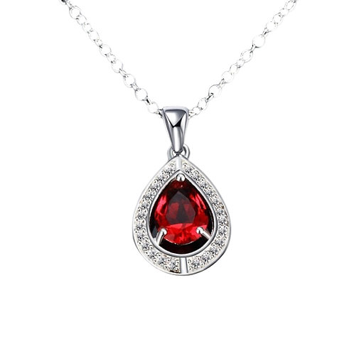 Red Water Drop Pendant