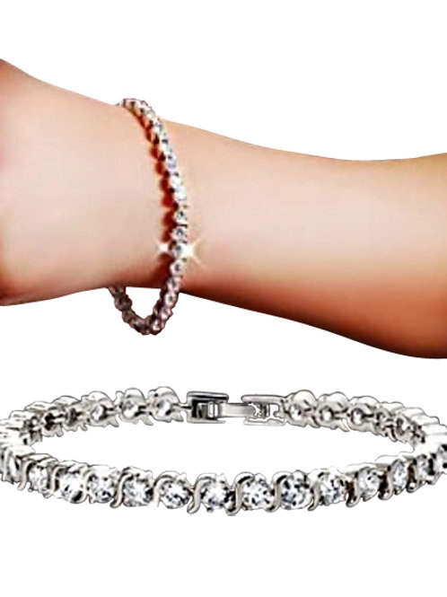 Cubic Zirconia Crystal Bracelet