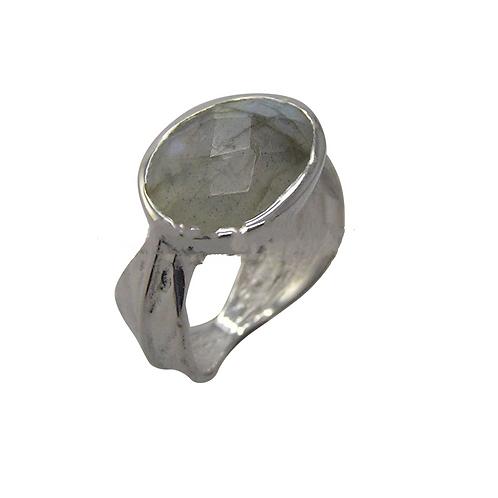 Labradorite Grecian Silver Ring