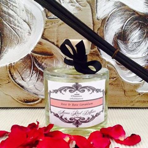 Aroma Reed Diffuser- Rose & Rose Geranium