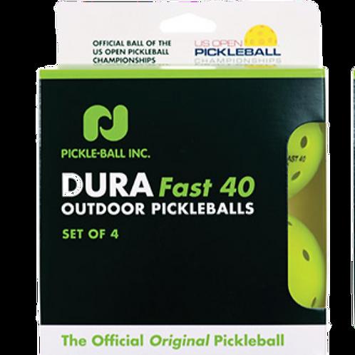 Dura Fast 40 Outdoor Pickleballs (set of 4)