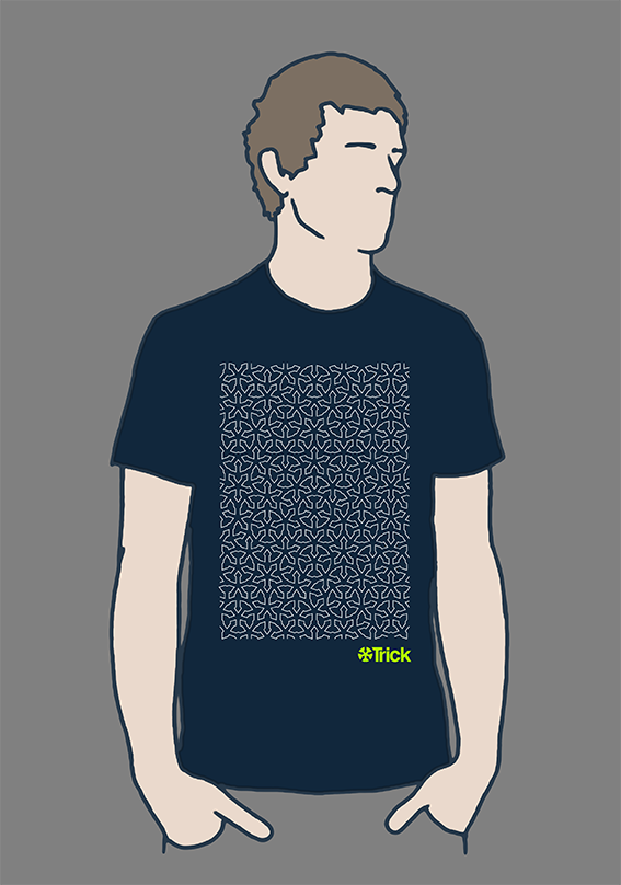 TRKT006 Navy Tee with lime free logo