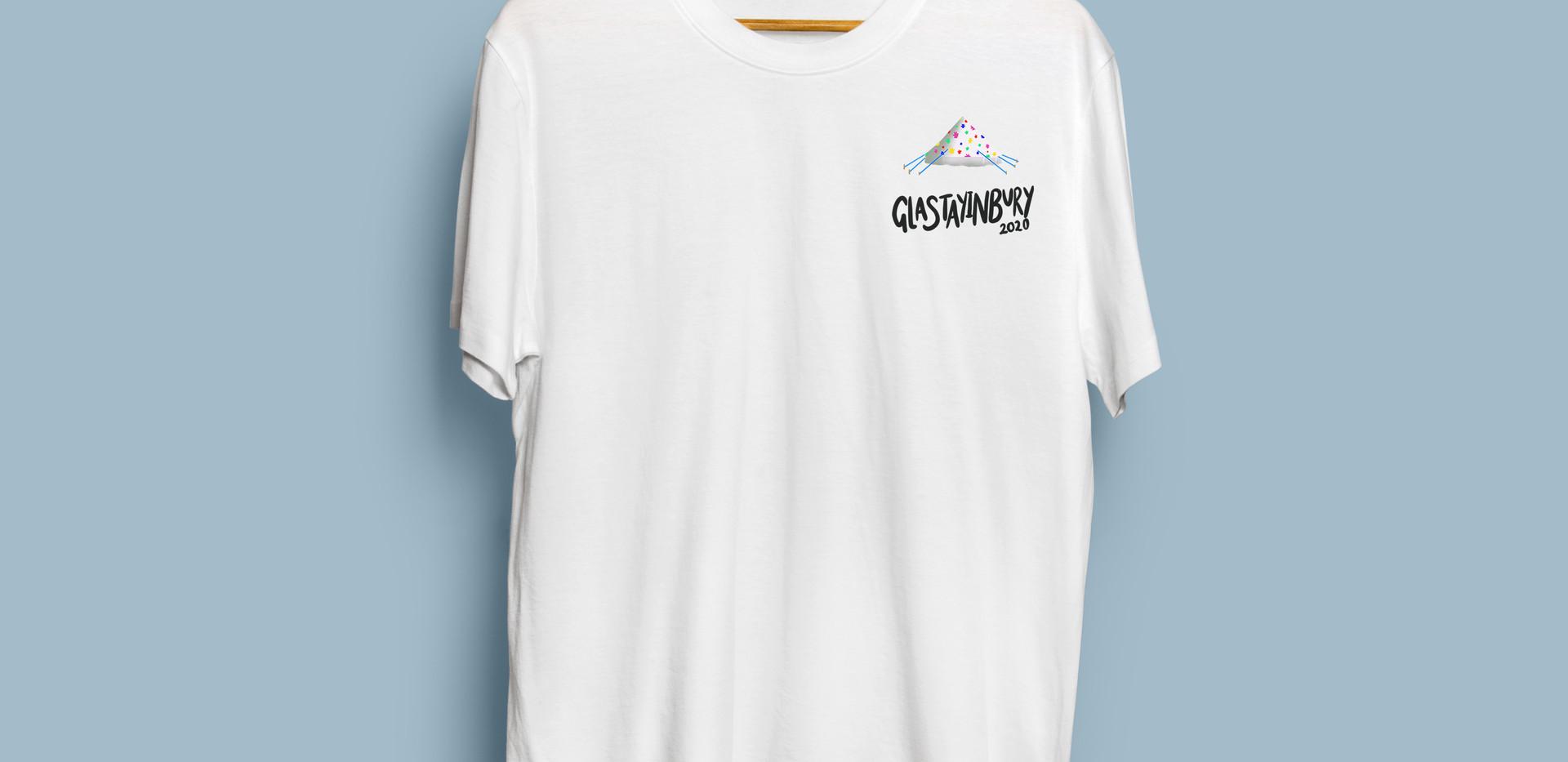 Glastayinbury White Tent T-Shirt