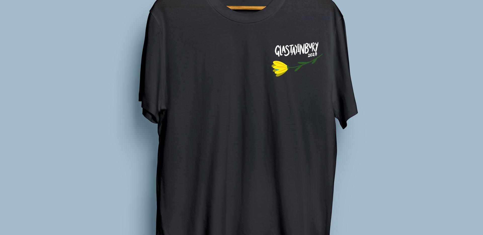 Glastayinbury Grey Flower T-Shirt