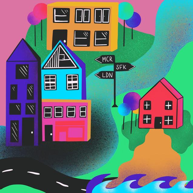 Houses Illustration