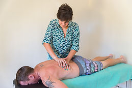 Soft tissue massage of low back