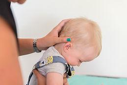 Examination of patient neck
