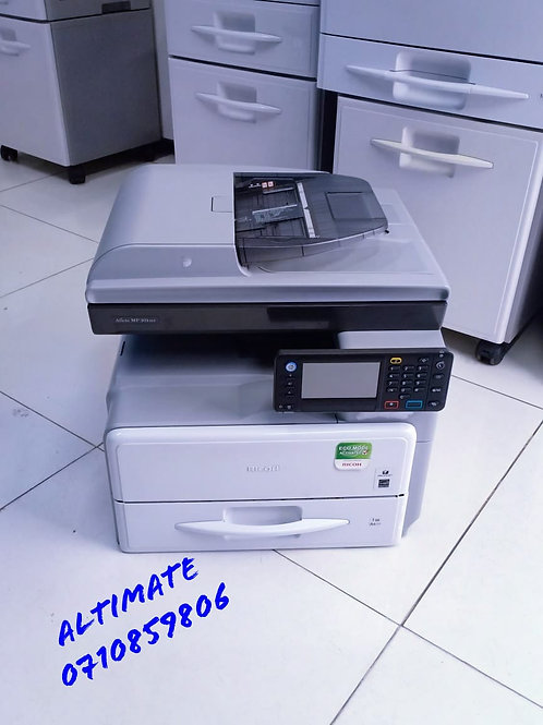 Ricoh MP 301SPF multi functional printer/photocopier