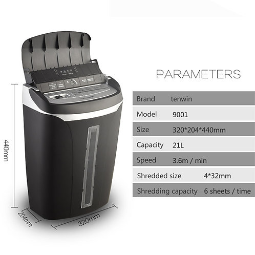 21L Auto card & paper shredder