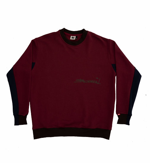 """TWO COLORS CUT"" SIGNATURE CREWNECK"