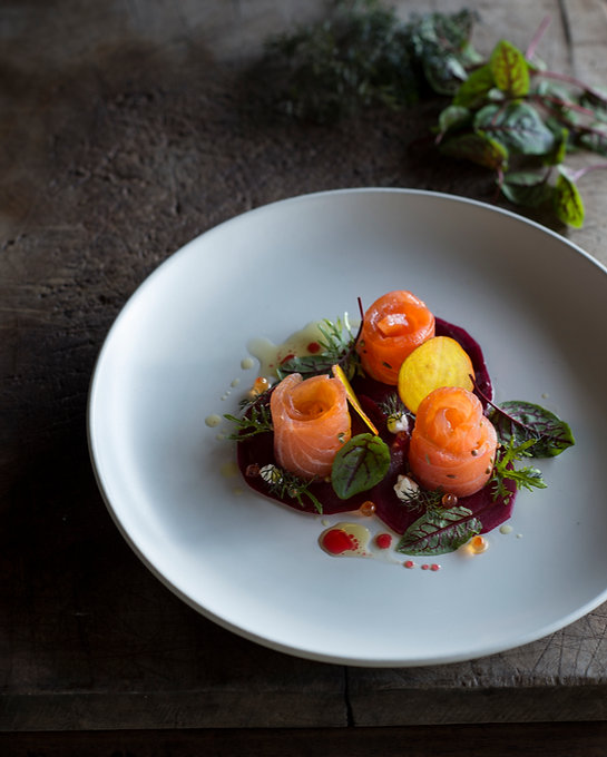 Beetroot Carpaccio with Cured Salmon.jpg